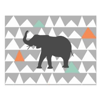 種族象のアステカなアンデスパターン ポストカード