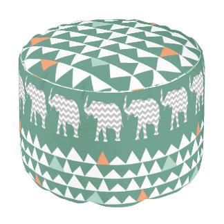 種族象のシェブロンのアステカなアンデスパターン プーフ