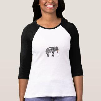 種族象3/4のティー Tシャツ