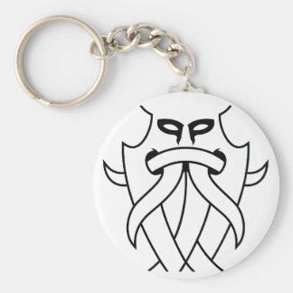 種族Odinのマスク(輪郭を描かれる黒) キーホルダー