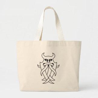 種族Odinのマスク(輪郭を描かれる黒) ラージトートバッグ