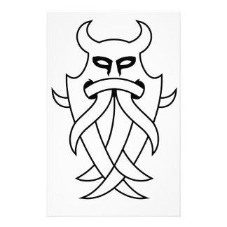 種族Odinのマスク(輪郭を描かれる黒) 便箋