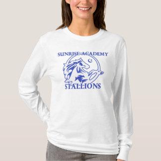 種馬のロゴの成人女性のLongsleeves Tシャツ