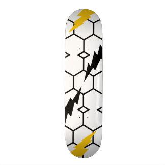 """稲妻および六角形7の¾の""""スケートボード オリジナルスケートボード"""