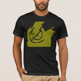 稲妻のかたつむりのロゴの黄色 Tシャツ