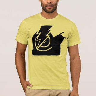 稲妻のかたつむりのロゴ Tシャツ