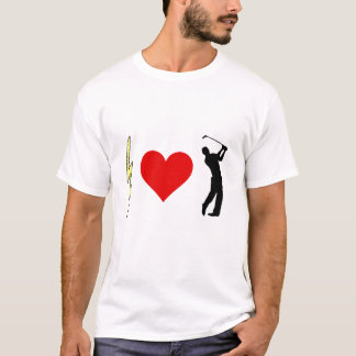 稲妻のハートのゴルファー Tシャツ