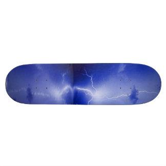 稲妻の嵐および反射のskatebord 18.4cm ミニスケートボードデッキ