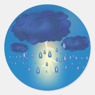 稲妻の嵐のステッカー ラウンドシール