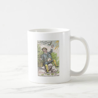 稲妻の嵐の人の魚釣り コーヒーマグカップ