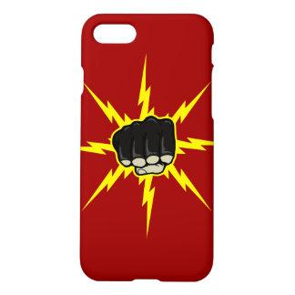 稲妻の握りこぶしMMAの穿孔器のiPhone 7の場合 iPhone 8/7 ケース