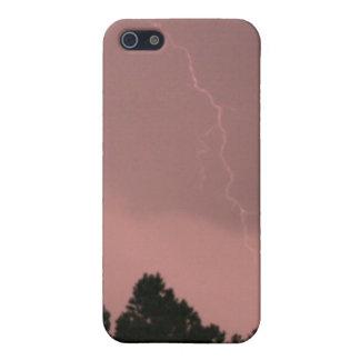 稲妻3のIphoneピンクの4/4s Speckの場合 iPhone 5 Case