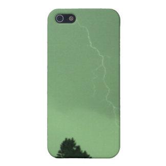 稲妻3のIphone緑の4/4s Speckの箱 iPhone 5 ケース