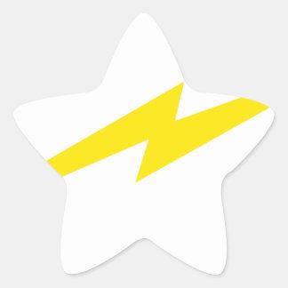 稲妻 星シール