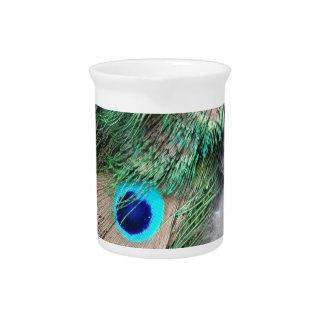 穀物のムギの緑の孔雀の目 ピッチャー