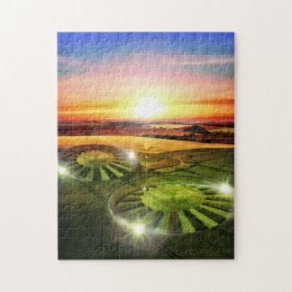 穀物の円のパズル ジグソーパズル