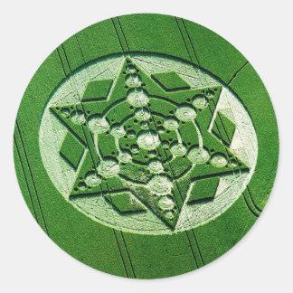 穀物の円の回転の星ウィルトシャー ラウンドシール