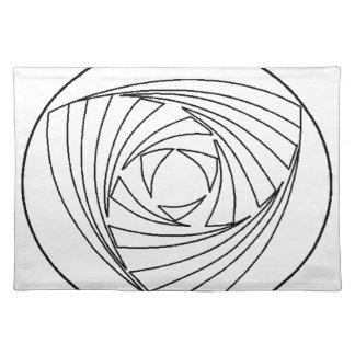 穀物の円の神聖な幾何学のバッグ ランチョンマット