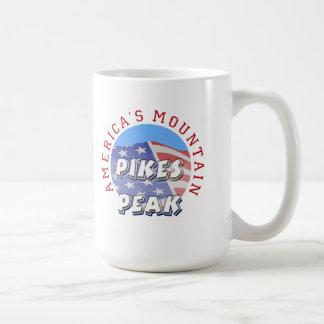 穂先のピークアメリカの山 コーヒーマグカップ