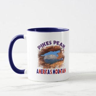 穂先のピークアメリカの山 マグカップ