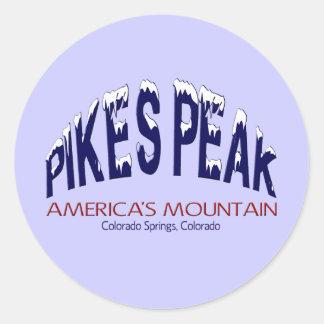 穂先のピークアメリカの山 ラウンドシール