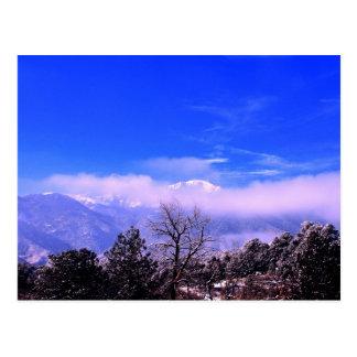 穂先のピーク山、コロラドスプリングス、CO ポストカード