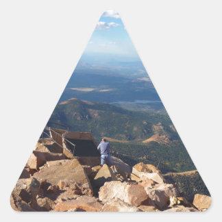 穂先の上の山景色は最高になります 三角形シール