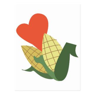 穂軸のトウモロコシ ポストカード