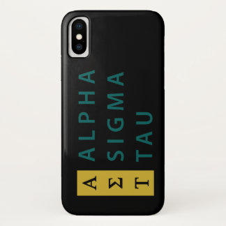 積み重なるアルファシグマTau iPhone X ケース