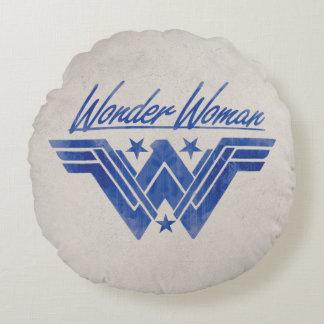 積み重なるワンダーウーマンは記号を主演します ラウンドクッション