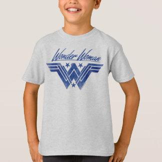 積み重なるワンダーウーマンは記号を主演します Tシャツ