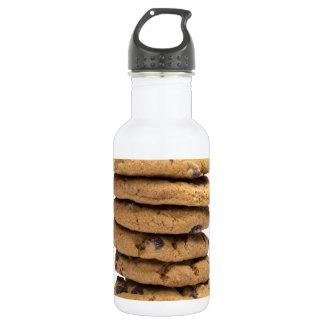 積み重ねられたおいしいチョコチップクッキー ウォーターボトル