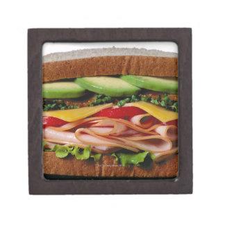 積み重ねられたサンドイッチ ギフトボックス