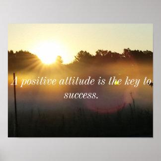 積極性の感動的な日の出ポスター ポスター