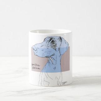 積極性を引く犬のマグのドーベルマン犬インク コーヒーマグカップ