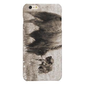積極的なオオカミの狩りのバイソン 光沢iPhone 6 PLUSケース