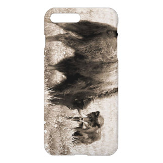 積極的なオオカミの狩りのバイソン iPhone 8 PLUS/7 PLUSケース