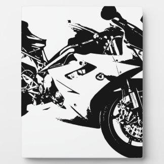 積極的なスポーツのオートバイ フォトプラーク