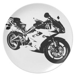 積極的なスポーツのオートバイ プレート