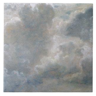 積雲の勉強、1822年(紙によって置かれるoの油 タイル