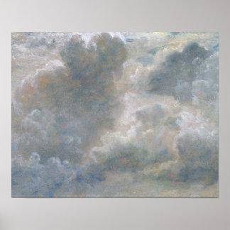 積雲の勉強、1822年(紙によって置かれるoの油 ポスター