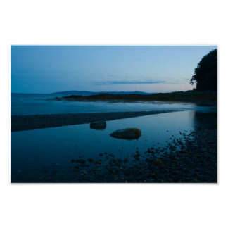 穏かな夕べ、Penobscot湾、メイン ポスター