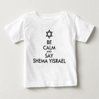 穏やかがShema Yisraelを言うためにあれば ベビーTシャツ