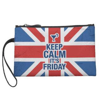 """""""穏やかそれありますおもしろいな金曜日""""がリラックスします冷たいイギリスを保って下さい クラッチ"""