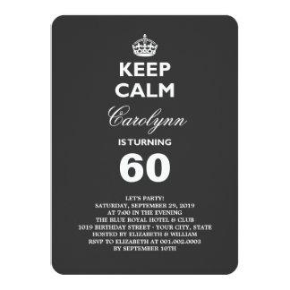 穏やかでおもしろいなマイル標石の誕生会の招待を保って下さい カード