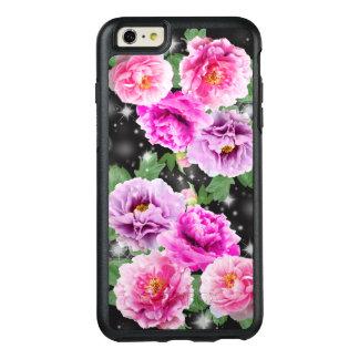 穏やかでかわいい花のピンクの紫色のシャクヤク オッターボックスiPhone 6/6S PLUSケース