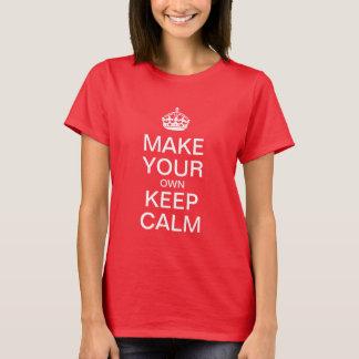 穏やかでカスタマイズ可能なテンプレート-赤いTシャツ--を保って下さい Tシャツ