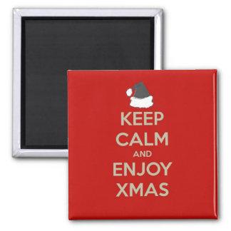 穏やかで及び楽しむなクリスマスを保って下さい マグネット