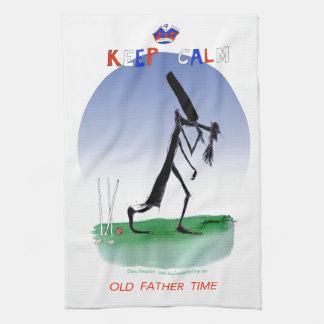 穏やかで古い父の時間、贅沢なfernandesを保って下さい キッチンタオル