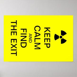 穏やかで黄色いパンクポスター放射性印を保って下さい ポスター